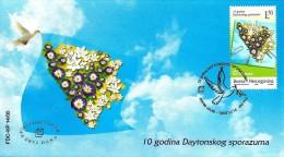 Bosnia & Herzegovina - Mostar - 2005 - 10 Years Of Daytona Agreements - FDC (first Day Cover) - Bosnia And Herzegovina