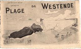 Westende  7 CPA  Station Strand    Lac Aux Dames  Ingang    Zeedijk   Dorpplaats    Litho Plage     Villa Olga - Westende