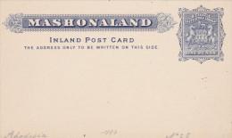 Carte Entier Mashonaland - Ganzsache - Stationery - British South Africa Company - Groot-Brittannië (oude Kolonies En Protectoraten)