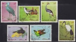 1667. United Arab Emirates - Ajman, 1969, Birds, Used (set Is Not Complete) - Ajman