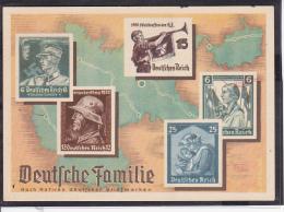 """Sonderkarte Olympia Postwertzeichen Ausstellung Dresden 1936 """"Deutsche Familie"""" - Briefe U. Dokumente"""