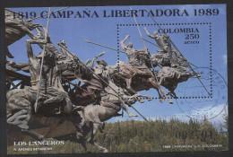 HF41.-.KOLUMBIEN / COLOMBIA.- 1989.-.  MI # :BLOCK 42 .-.USED .-. CV € :?? .-. LIBERTY CAMPAIGN - Colombia