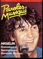 Revue PAROLES Et MUSIQUE N°52 1985 HIGELIN, GAINSBOURG, SPRINGSTEEN, DANIELLE MESSIA - Musik