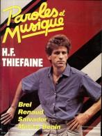 Revue PAROLES Et MUSIQUE N°53 1985 H.F. THIEFAINE, BREL, RENAUD, SALVADOR, MORICE BENIN, SALVADOR - Musique