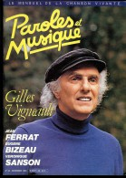 Revue PAROLES Et MUSIQUE N°54 1985 GILLES VIGNEAULT, FERRAT, BIZEAU, SANSON, MAURANNE - Musique