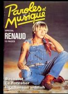 Revue PAROLES Et MUSIQUE N°58 1986 RENAUD, BACHELET, LE FORESTIER, LA CHANSON YIDDISH - Musique