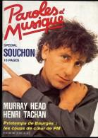 Revue PAROLES Et MUSIQUE N°60 1986 SOUCHON,  MURRAY HEAD, HENRI TACHAN, PIERRE LOUKI - Musique