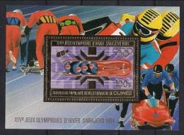 Olympische Spelen  1984 , Guinea  - Blok  Postfris - Invierno 1984: Sarajevo