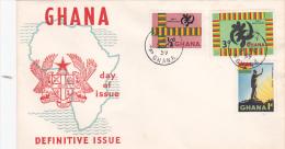 Ghana 1959 Definitives FDC - Ghana (1957-...)