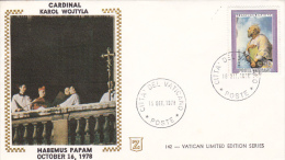 Vatican City 1978  Cardinal Karol Wojtyla  Souvenir Cover - Vatican
