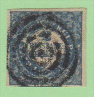 DEN SC #1a  1851 2 Rigsbankskilling  1st (Ferslew) Printing  4 Margins W/cert, CV $2400.00 (I) - 1851-63 (Frederik VII)