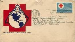 1952  Red Cross Conference  Sc 317 Herman Jacobi Cacheet To West Pakistan Rare Destination - 1952-1960