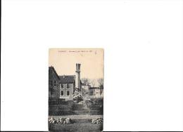 CPA Noir Et Blanc ! Monument Aux Morts  Du 267e - Carte VertIcale Circulé Sous Enveloppe - Soissons