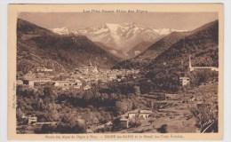 (RECTO / VERSO) DIGNE LES BAINS  EN 1930 - MASSIF DES TROIS EVECHES - Digne