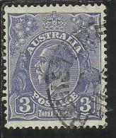 AUSTRALIA 1914 - 1924 KING GEORGE V RE 3 D ULTRA USATO USED
