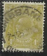 AUSTRALIA 1914 - 1924 KING GEORGE V RE 4 D OL BIS USATO USED