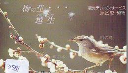 Telecarte Japon OISEAU (3581)  SINGING BIRD * JAPAN Phonecard * Vogel TELEFONKARTE - Songbirds & Tree Dwellers