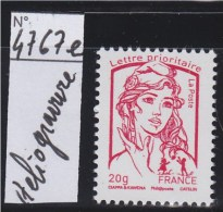 Marianne Et La Jeunesse TVP Lettre Prioritaire -20g N°4767e Impression Héliogravure Sans Phosphore Neuf Gommé - 2013-... Marianne De Ciappa-Kawena