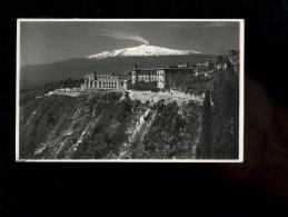 TAORMINA Sicilia : S Dominica  & Etna Rara Edizione F Galifi Crupi 1950 Vulcano Volcan Volcano - Autres Villes