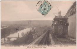 Cpa 76 Rouen Bon Secours Tramway De Rouen à Bon Secours Et Mesnil (circulé En 1915) - Rouen