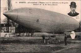 ! 1909 Liege, Dirigeable Mixte No. 16, Brazilian Santos Dumont, Luftschiff, Aviation, Airship - Zeppeline