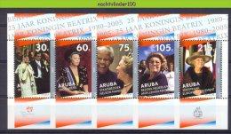 Nbs0339 KONINGSHUIS KONINGIN BEATRIX JUBILEE ROYAL VISIT NELSON MANDELA ROYALTY ARUBA 2005 PF/MNH - Royalties, Royals