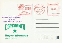 I7459 - Czechoslovakia (1991) 110 01 Praha 01: Czech Esperanto Association - Esperanto