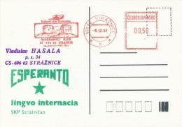 I7461 - Czechoslovakia (1991) 696 62 Straznice: Esperanto Club; Cultural House Straznice - Esperanto