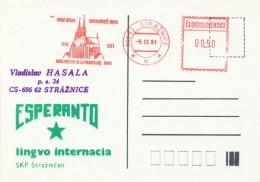 I7462 - Czechoslovakia (1991) 696 62 Straznice: The First Esperanto Association Brno 1901-1991 - Esperanto