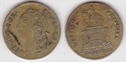 JETON LOUIS XV 1743 En Laiton à Identifier, Diamètre 25 Mm (voir Scan) - Royal / Of Nobility