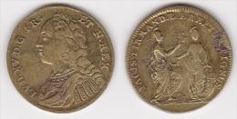 JETON LOUIS XV En Laiton à Identifier, Diamètre 24 Mm (voir Scan) - Royal / Of Nobility