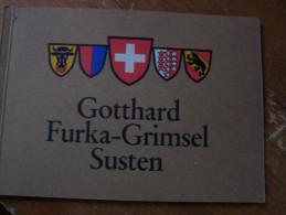 4 SCHWEIZER ALPENPÄSSE ROUTES SUISSE GOTTHARD  FURKA GRIMSEL SUSTEN 50 PHOTOS SÜSSLI JENNY AUTOMOBILES  D EPOQUE - Suisse