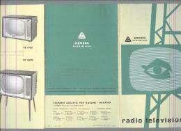 RADIO....GIRADISCHI....TELEVISIONE..SIEMENS....DEPILIANT..ANNI 50/60 - Literature & Schemes