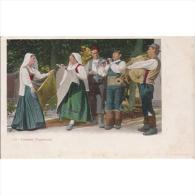 ITLATP1307C-LFTD1579TESPB. TARJETA POSTAL DE ITALIA.Trajes Tipicos.Cantes Y Bailes.Musica.NAPOLES - Baile