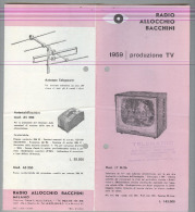 RADIO.....TELEVISIONE..ALLOCHIO,BACCHINI...DEPILIANT..ANNI 50/60 - Literature & Schemes