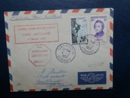 45/575   LETTRE 1° VOL AUCKLAND  1957 - Luchtpost