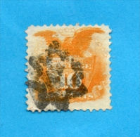 USA 33 (YT) 116 (SCOTT) SHIELD AND EAGLE GRILLE EN RELIEF TTB PHOTOS R/V - Used Stamps