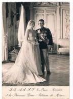PHOTO MARIAGE LE PRINCE RAINIER LA PRINCESSE GRACE-PATRICIA DE MONACO 1956 - Mónaco