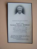 77 LA CHAPELLE-La-REINE MAROLLES-Sur-SEINE Abbé Georges-Désiré MOREAU Faire-Part Avis De Décès - La Chapelle La Reine