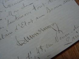 Edmond TURQUET (1834-1916) - Député BOULANGISTE - [ AISNE / Vervins ] - AUTOGRAPHE - Autografi