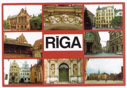 K564 Riga - Panorama - Multivues Multiviews / Non Viaggiata - Lettonia