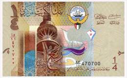KUWAIT KUWAIT 1/4 DINAR ND(2014) Pick 29a Unc - Kuwait