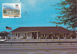 D18178 CARTE MAXIMUM CARD FD 1993 NETHERLANDS ANTILLES - AMERICAN CONSULATE AND FLAG CP ORIGINAL - Curacao, Netherlands Antilles, Aruba