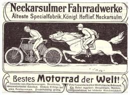 Original Werbung - 1905 - NSU Motorrad , Neckarsulm , Moto , Motorräder !!! - KFZ