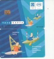 GREECE - Athens 2004 Olympics, Mascot Phoebus-Athena 15(Sailing, Canoe/Kayak Slalom), 09/03, Used - Jeux Olympiques