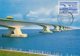 D18200 CARTE MAXIMUM CARD FD 1968 NETHERLANDS - ZEELAND BRIDGE ZIERIKZEE CP ORIGINAL - Bridges