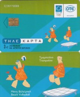 GREECE - Athens 2004 Olympics, Mascot Phoebus-Athena 4(Beach Volleyball, Trampoline), 06/03, Used - Jeux Olympiques