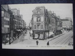 50. CHERBOURG - Rue Du Bassin Et Rue Gambetta - Cherbourg