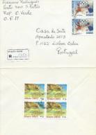 TIMBRES -STAMPS - LETTRE RECOMMANDÉ POUR PORTUGAL- CAP VERT / CAPE VERDE - J.O. ATHÉNES 2004 ET TORTUE (Carretta Caretta - Cap Vert