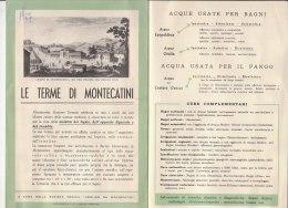 """C1486 - Brochure  PISTOIA - TERME DI MONTECATINI - ACQUE TERMALI CURATICE  Soc. Medica """"Ugolino Da Montecatini"""" 1967 - Health & Beauty"""